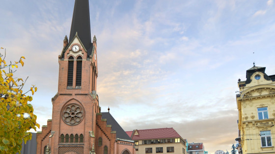 Červený kostel v Olomouci