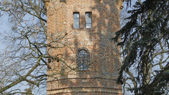 věže v zámeckém parku v Čechách pod Kosířem