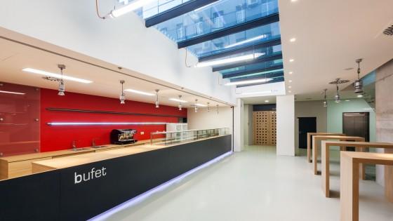 dostavba výzkumně výukového objektu PdF UP Olomouc bufet