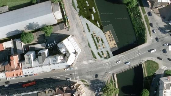náplavka řeky Moravy v Olomouci