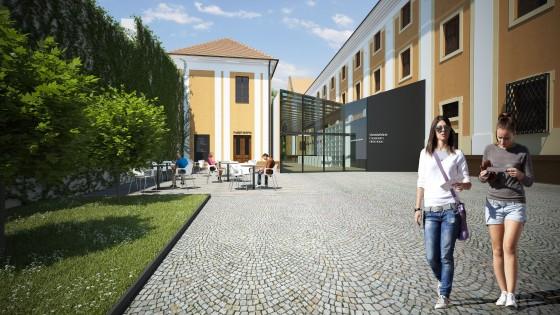 úpravy nádvoří Vlastivědného muzea v Olomouci