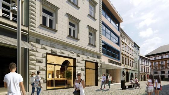 rekonstrukce historického domu na ulici 28.října7 v Olomouci