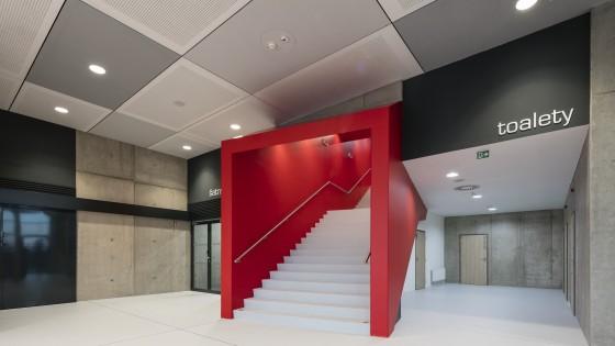 NSC Národní sportovní centrum v Prostějově schodiště