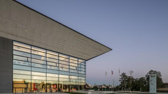 NSC Národní sportovní centrum v Prostějově ze západu