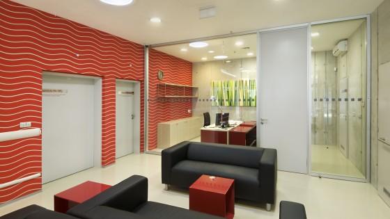 budova PET-CT Fakultní nemocnice v Olomouci interier