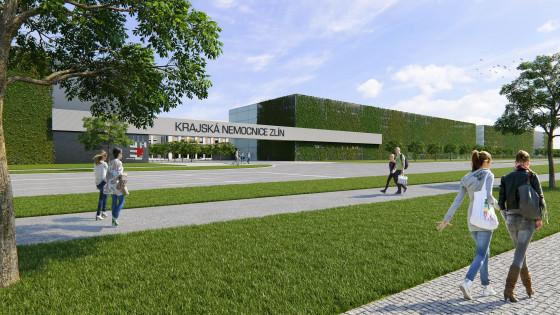 Krajská nemocnice Zlín - pohled z třídy 3.května