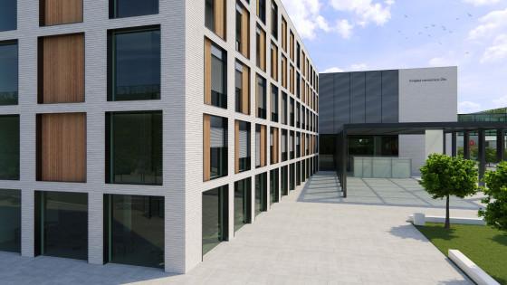Krajská nemocnice Zlín - pohled na vstupní prostor