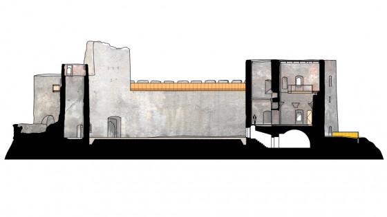 hrad Helfštýn - řez D