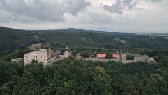 hrad Helfštýn z dronu
