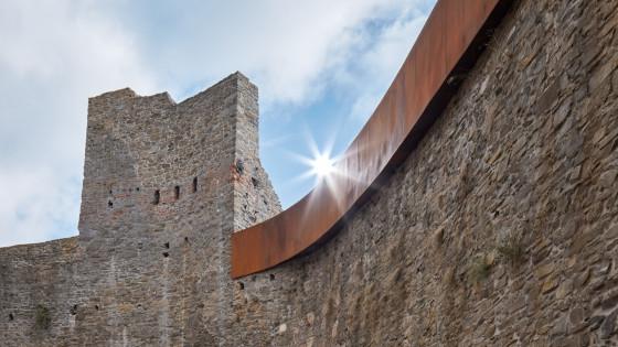 hrad Helfštýn nádvoří