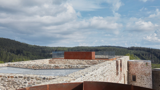 hrad Helfštýn - vyhlídka