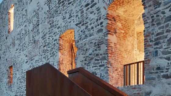 hrad Helfštýn - terasa